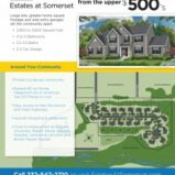 """Estates at Somerset"" 5 Homes Remain for Sale!"